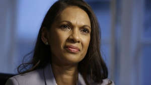 In this Thursday, Dec. 1, 2016 photo, Gina Miller, a founder of investment management group SCM Private, pauses, during an interview with The Associated Press in London. (AP / Matt Dunham)