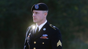 FILE - In this Jan. 12, 2016, file photo, Army Sgt. Bowe Bergdahl arrives for a pretrial hearing at Fort Bragg, N.C. Bergdahl, a former prisoner of war accused of endangering his U.S. comrades by walking off his post in Afghanistan is asking President Barack Obama to pardon him before leaving office. White House and Justice Department officials say Bergdahl submitted the clemency request. If granted, it would allow Bergdahl to avert a court-martial trial scheduled for April. He faces charges carrying a maximum penalty of life in prison. (AP Photo/Ted Richardson, File)
