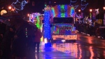 Eighty commercial trucks decked out in lights spread Christmas cheer throughout Greater Victoria for the annual Truck Light Convoy. Dec. 3, 2016 (CTV Vancouver Island)