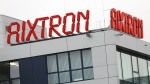 In this Oct. 25, 2016 picture the headquarters of the German technology maker Aixtron in Herzogenrath, Germany, is photographed. (Oliver Berg/dpa via AP,file)