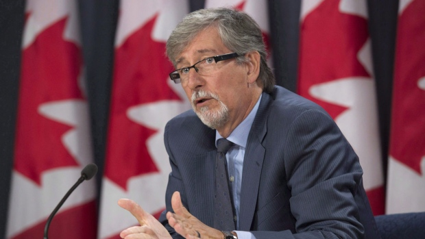 Privacy commissioner Daniel Therrien responds to a questions during a press conference Tuesday September 27, 2016 in Ottawa. Privacy commissioners from across the country will tell the Trudeau government today to make respect for personal information a cornerstone of its revamped national security policy. THE CANADIAN PRESS/Adrian Wyld