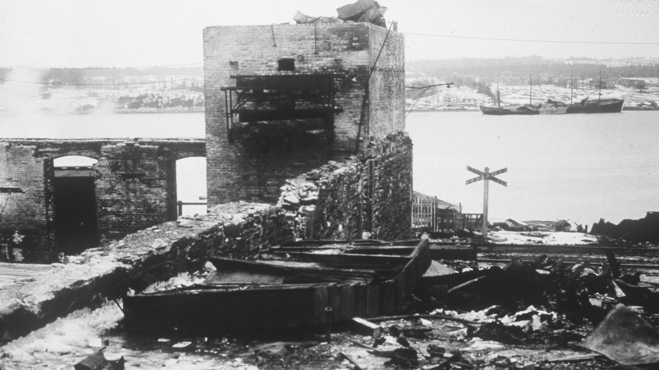 The aftermath of the Halifax Explosion is seen in this photo. (The Canadian Press)