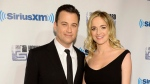 """Talk show host Jimmy Kimmel and wife Molly McNearney attend """"Howard Stern's Birthday Bash,"""" presented by SiriusXM, at the Hammerstein Ballroom in New York on Jan. 31, 2014. (Evan Agostini/AP)"""
