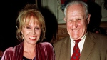 In this April 29, 1998 file photo, actress  Joanna Lumley, left and actor Peter Vaughan, pose for a photo, in London. (AP / Fiona Hanson)