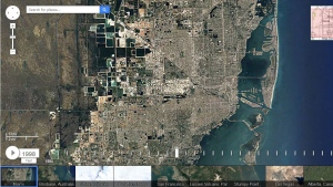 A satellite image captured by Google's Timelapse app shows Miami in 1998. (Google)