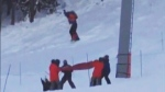 Caught on cam: Teen dangles, falls off Whistler c