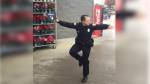 Officer busts a move for charity