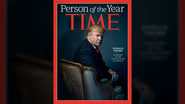 President-elect Donald Trump was named Time magazine's Person of the Year on Wednesday, Dec. 6, 2016.  (Source: TIME / Twitter)