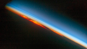 Pictured is a fiery sunset taken by an astronaut aboard the International Space Station on Oct. 27, 2016. (NASA)