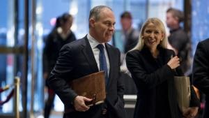 Oklahoma Attorney General Scott Pruitt arrives at Trump Tower in New York on Wednesday, Dec. 7, 2016. (AP / Andrew Harnik)