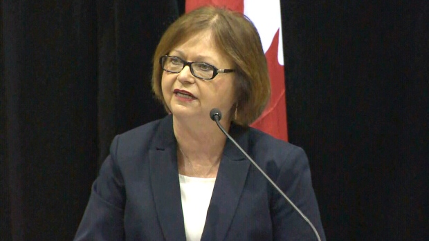 Public Procurement Minister Judy Foote speaks during a press conference, Thursday, Dec. 8, 2016.
