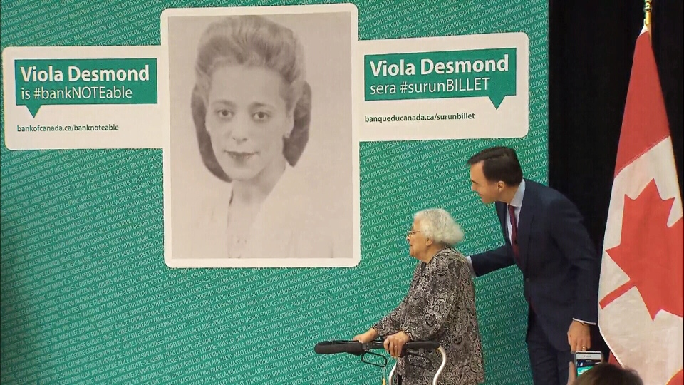Finance Minister Bill Morneau announced Viola Desmond will appear on Canada's new $10 banknote on Thursday, Dec. 8, 2016.