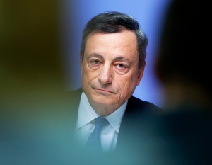 President of European Central Bank, Mario Draghi, listens during a news conference in Frankfurt, Germany, Thursday, Dec. 8, 2016. (AP / Michael Probst)