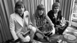 Greg Lake, left, Keith Emerson, centre, and Carl Palmer after an award ceremony in London, on Sept. 30, 1972. (PA File via AP)