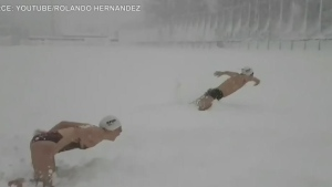 CTV News Channel: Swim team dives into the snow