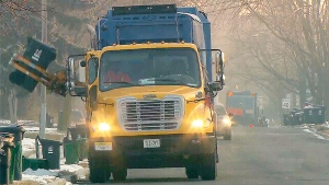A City of Toronto garbage truck is seen in an undated file photo.