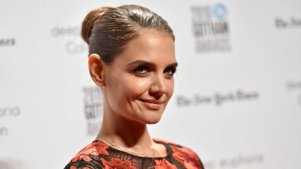 This Nov. 28, 2016 file photo shows Katie Holmes at the 26th annual Gotham Independent Film Awards in New York. Holmes stars as a single mother who finds herself living in a car with her daughter in her directorial debut, 'All We Had.' (Photo by Evan Agostini / Invision / AP, File)