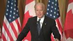 Joe Biden speaks at Ottawa dinner