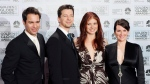 Megan Mullally hinted in an interview with PrideSource published on Dec. 7, 2016, that a revival of 'Will & Grace' could be in the works. (AP Photo/Reed Saxon, File)