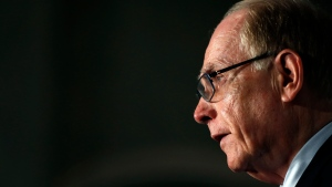 World Anti-Doping Agency investigator Richard McLaren speaks during a press conference in London, Friday Dec. 9, 2016. (AP Photo/Kirsty Wigglesworth)