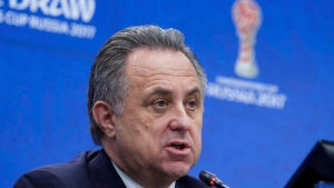 Russian Deputy Prime Minister Vitaly Mutko said Saturday Dec. 10, 2016, the country will accept an International Olympic Committee plan to retest all drug test samples given by Russian athletes at the 2012 and 2014 Olympics. (AP Photo/Ivan Sekretarev)