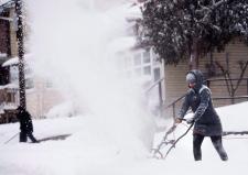 Snow fall in Toronto