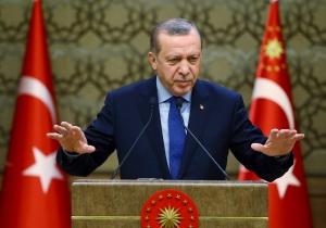 Turkey's President Recep Tayyip Erdogan addresses local administrators in Ankara, Turkey, Wednesday, Dec. 7, 2016. (Kayhan Ozer, Presidential Press Service))