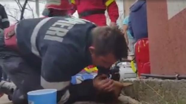 Romanian firefighter