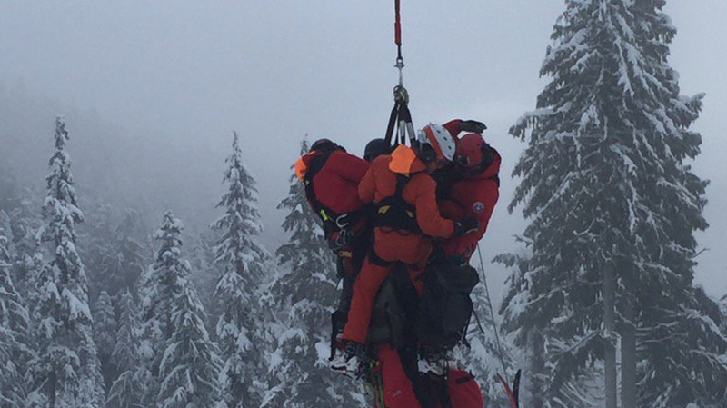 A pair of skiers who went out-of-bounds on the North Shore has been saved by rescue crews – but spent a chilly night stuck on the mountain. (Shannon Paterson)