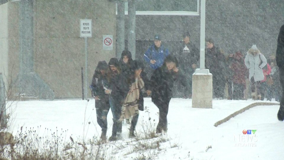 Students in Halifax were treated to an early day off due to poor weather conditions on Monday.