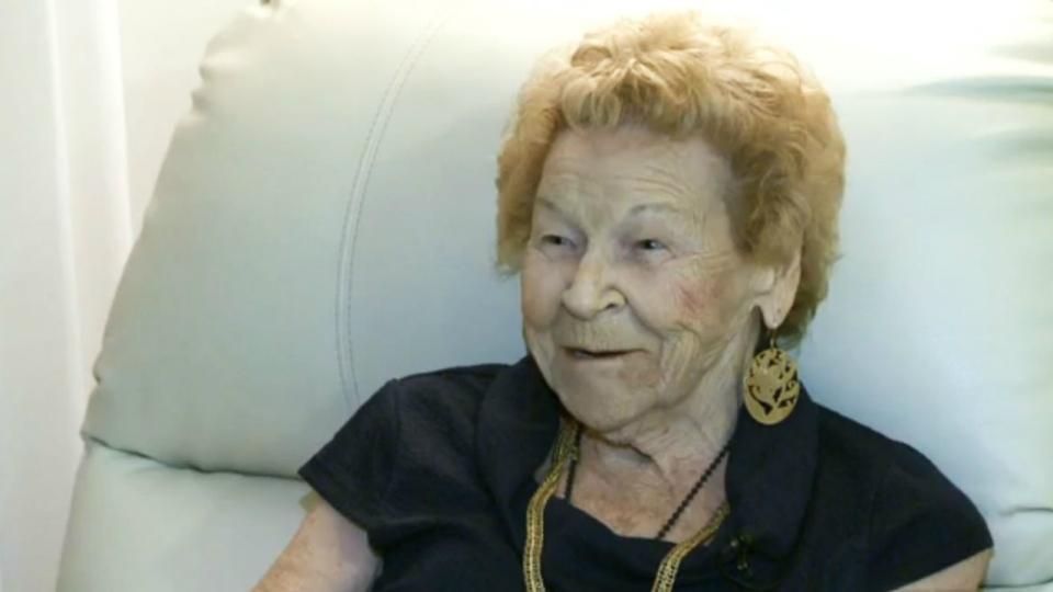 Vera Sommerfield, 96, is seen in Lethbridge, Alta. on Dec. 12, 2016. (CTV News)