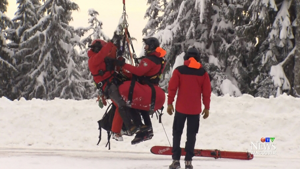 Brian Parsons and his ski partner were airlifted from the mountain by the North Shore Rescue team.
