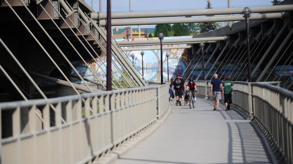 People use the walkway underneath Saskatoon's Circle Drive Bridge in this CTV file photo.
