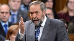 NDP Leader Tom Mulcair asks a question during question period in the House of Commons on Parliament Hill in Ottawa on Tuesday, Dec.13, 2016. (Adrian Wyld / THE CANADIAN PRESS)