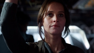 """This image released by Lucasfilm Ltd. shows Felicity Jones as Jyn Erso in a scene from, """"Rogue One: A Star Wars Story."""" (Lucasfilm Ltd. via AP)"""