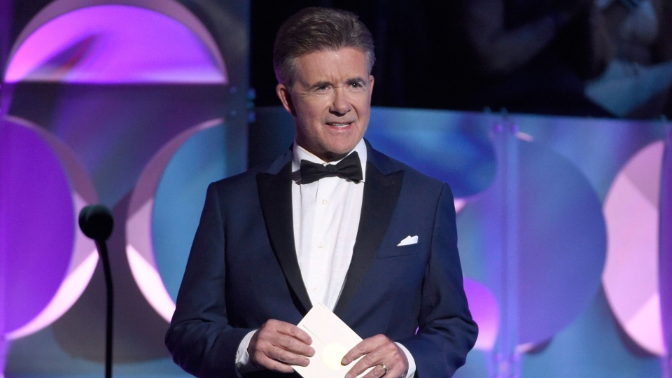 Alan Thicke presents the award for outstanding drama series writing team at the 42nd annual Daytime Emmy Awards at Warner Bros. Studios on Sunday, April 26, 2015, in Burbank, Calif. (Photo by Chris Pizzello/Invision/AP)