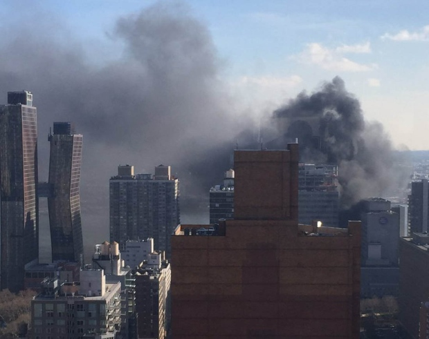 Fire extinguished at NY hospital building under construction