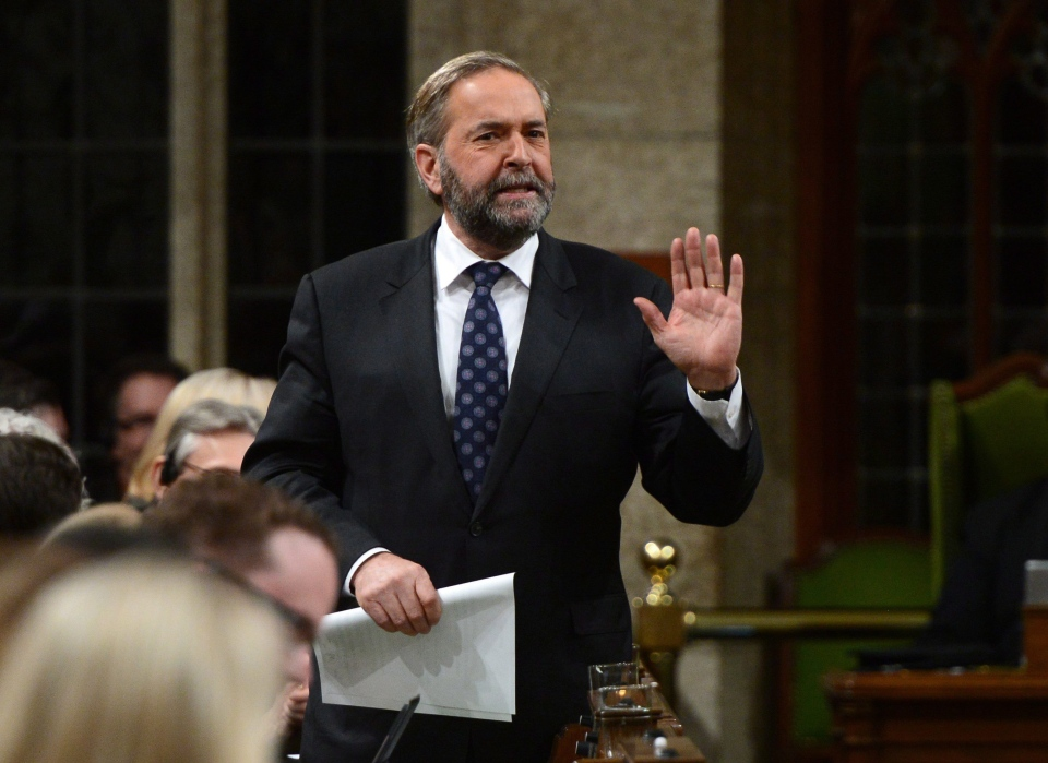 Tom Mulcair in question period