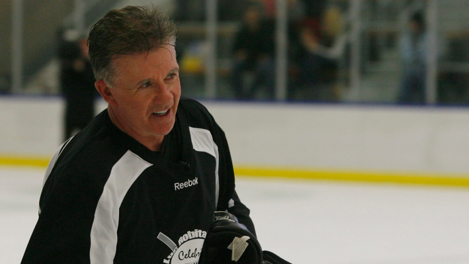 Alan Thicke skates at Luc Robitaille's Celebrity Shoot Out hockey game on Jan. 22, 2012. (Rick Egan,The Salt Lake Tribune / AP)