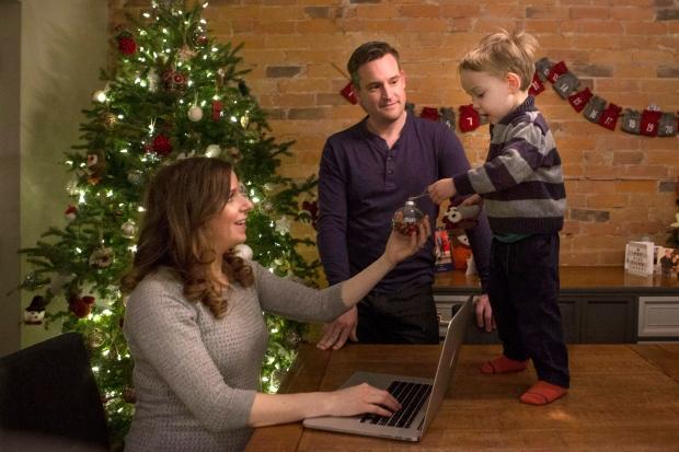 Jewish woman Erica Mark celebrates Christmas