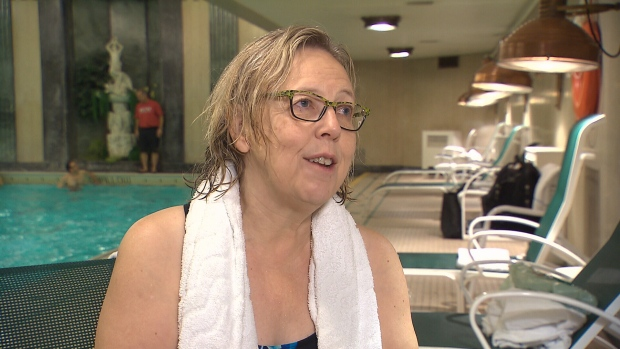 Green Party Leader Elizabeth May swims
