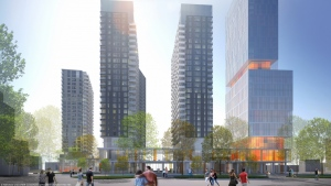 Devimco and Philip Kerub are planning to build at least six high rises at the corner of René Levesque and Atwater