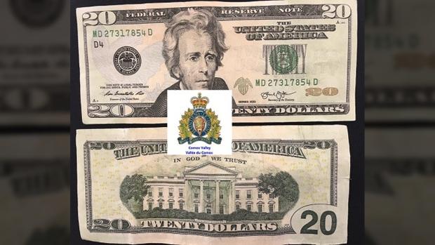 Mounties warn of fake $20 USD bills making rounds in Comox