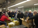 Goodfellows volunteers are giving away 5,000 Christmas boxes of food to those in need in Windsor, Ont., on Friday, Dec. 16, 2016. (Stefanie Masotti / CTV Windsor)