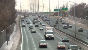 The federal and provincial governments are combining to spend $100 million on widening a three-kilometre stretch of the Queensway.