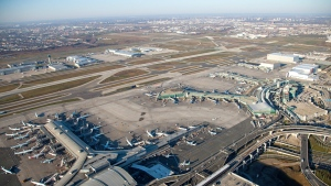 The agency says it made the discovery earlier this month while carrying out a routine inspection of an aircraft landing at Toronto's Pearson International Airport.