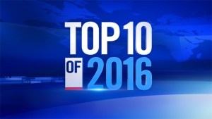 The complete CTV News Top 10 list of news stories and events that have significantly shaped the world in 2016.