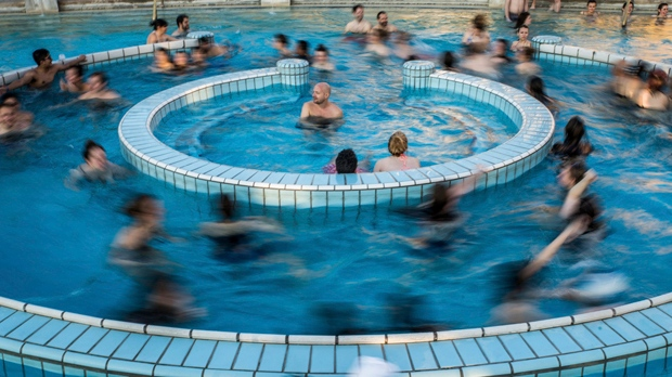 Swimming Pool Minerals : Sink neck deep in hot mineral waters at budapest baths