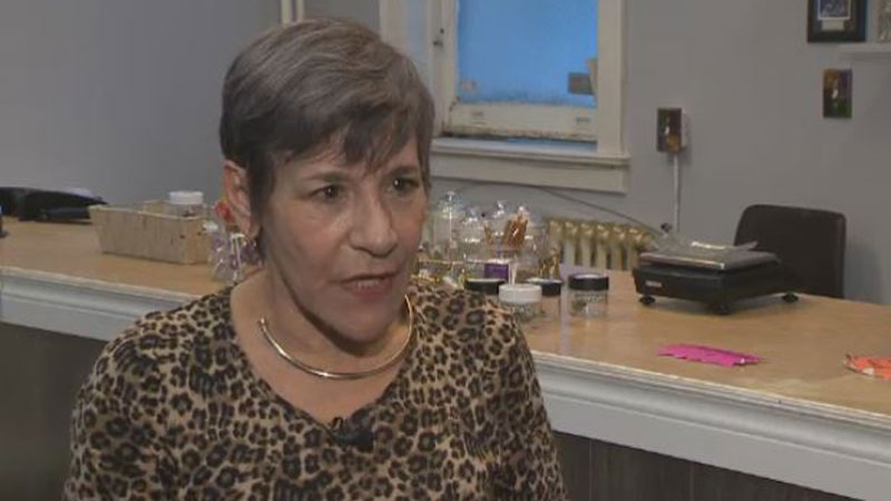 Shirley Martineau opened Auntie's Health and Wellness on Barrington Street four months ago. She says she will sell cannabis to anyone in just about any form.