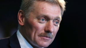 Kremlin press secretary Dmitry Peskov talks to a reporter in New York, Thursday, Nov. 10, 2016. (Seth Wenig/AP)